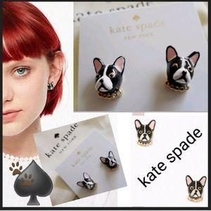NEW! ♠️ks Ma Cherie Dog Crstal Collar Earrings!🐾